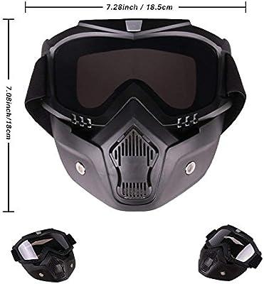 SMLRO Gafas Tácticas de Máscaras de Máscara con la Máscara Facial ...