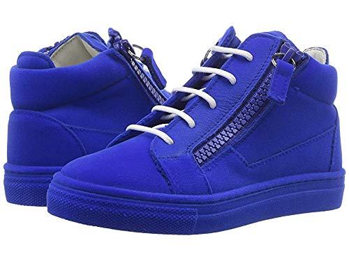 Giuseppe Zanotti Kids Unisex Flock Sneaker (Toddler) Electric Blue 23 M EU M by Giuseppe Zanotti Kids (Image #3)
