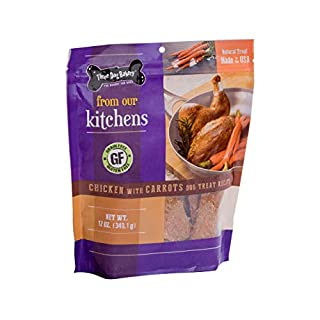 Three Dog Bakery From Our Kitchens Grain Free Meaty Filet Strips, Chicken with Carrots Flavor, Premium Treats for Dogs, 12 Ounce Resealable Pack