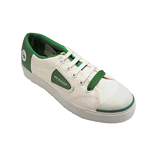 Dunlop - Zaptillas casuales con cordones Modelo Green Flash Unisex Blanco