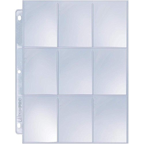 Ultra Pro 9-Pocket Silver Series Page Protector for Standard Size Cards (50ct) (Ultra Pro Card Sleeves)