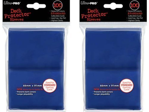 200 Ultra-Pro Blue Deck Protector Sleeves 2-Packs – Standard Magic the Gathering Size