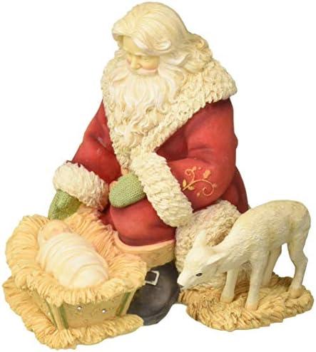 Enesco Heart of Christmas` Silent Night Holy Night Santa Figurine 6.26 Multicolor