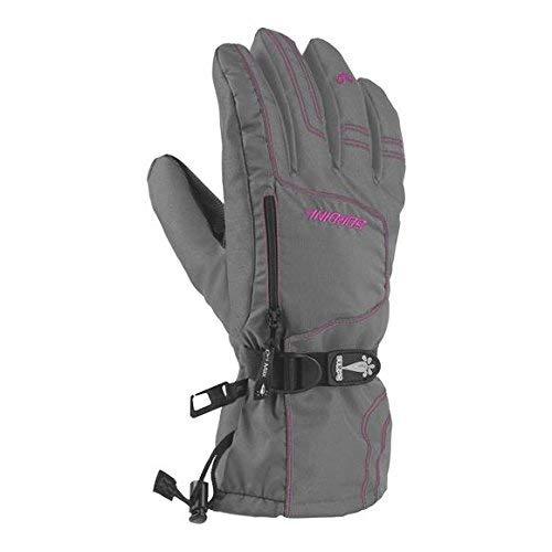 Gordini Junior Ultra Dri-Max Gauntlet Gloves Dark Grey Deep Pink XS