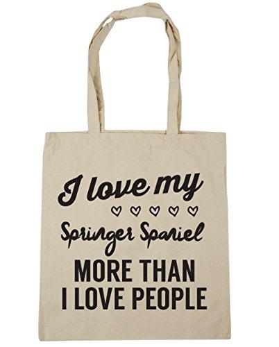 Bag Natural spaniel springer Gym more HippoWarehouse Tote 42cm I I Shopping people love than my x38cm love 10 Beach litres Swq7H7I6