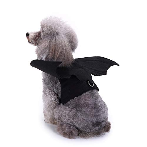 Glumes Bat Wing Pet Harness/Costume Halloween Dog Cat Costume for Pet Cats Dogs Bat Wings Pets Wings Black Cool Puppy Kittens Black Bat Transfiguration Halloween Dog Clothes]()