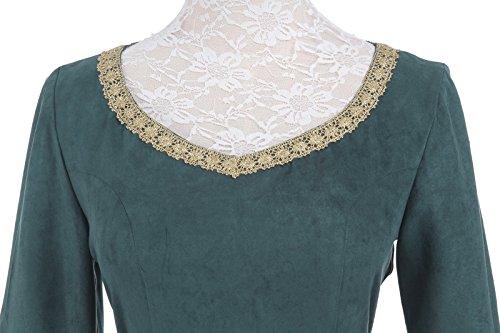 Mittelalterliche GC218A Nuoqi Maxi NI Kostüm Kleid Kleid Damen Langarm FBA Party Königin Zw4z5w