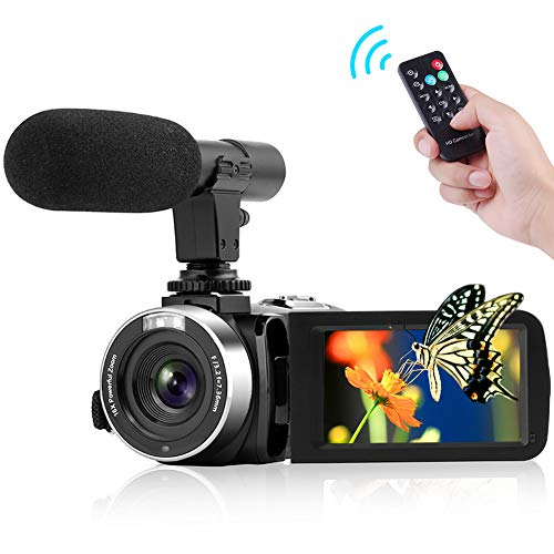 30 Fps Digital Video - Camcorder Digital Video Camera, FHD 1080P 30 fps 30.0 MP Camcorders with Microphone Night Vision YouTube Vlogging Camera HDMI Output with Remote Control