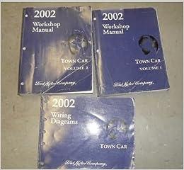 2002 ford lincoln town car service shop repair manual set 02 dealership:  ford: amazon com: books