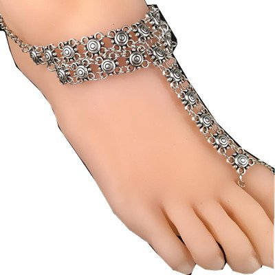 Kanzd Hot Women Fashion Coin Medallion Retro Style Adjustable Chain Foot Beach Anklet Jewelry (Silver) (Medallion Tennis)