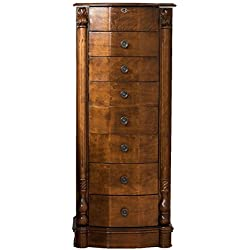 Hives & Honey 9006-981 Antoinette Jewelry Armoire Storage Organization Cabinet Necklace Holder, Large, Antique Walnut