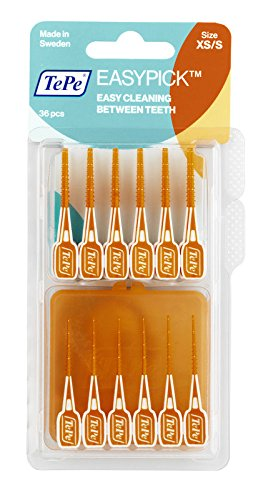 TePe Interdentalbürste Easy Pick orange, Size XS/S, 1er Pack (1 x 36 Stück)