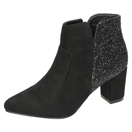 Anne Michelle Damen Ankle Boots mit Absatz (41 EU) (Schwarz) SC2zEK5
