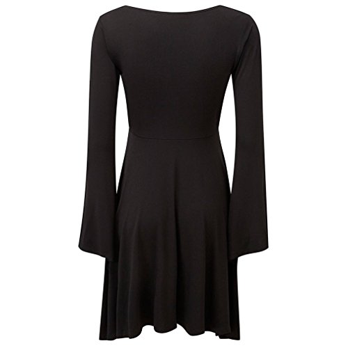Kleid Sleeve Damen Schwarz Angel Nocturne Killstar Dress Langarm Midi Gothic gZwEwHq