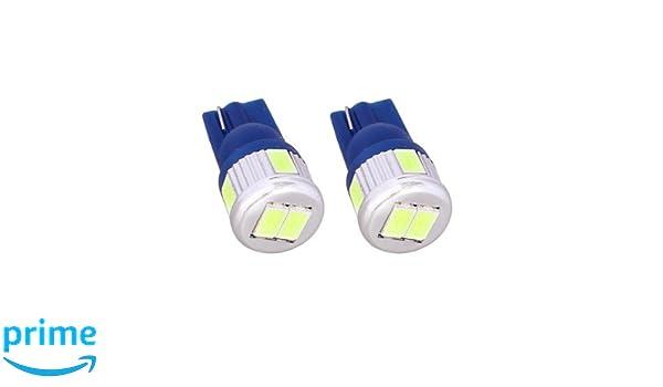 T10C6B - Azul de Canbus SMD LED lámpara bombilla de repuesto luces de posición W5W T10 12V Numero de luz de la placa Interior de luz del coche (No Error): ...