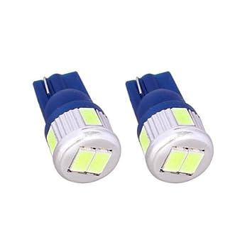 T10C6B - Azul de Canbus SMD LED lámpara bombilla de repuesto luces de posición W5W T10