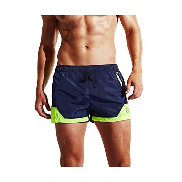 Lachi Costume da Bagno Uomo Mare Vita Elastica con Coulisse Pantaloncini Mare Asciugatura Rapida Spiaggia Nuoto Serf 1 spesavip