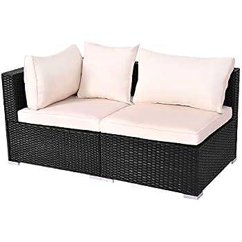 Amazon.com: Outdoor Patio Furniture Sets PE Rattan Wicker ...