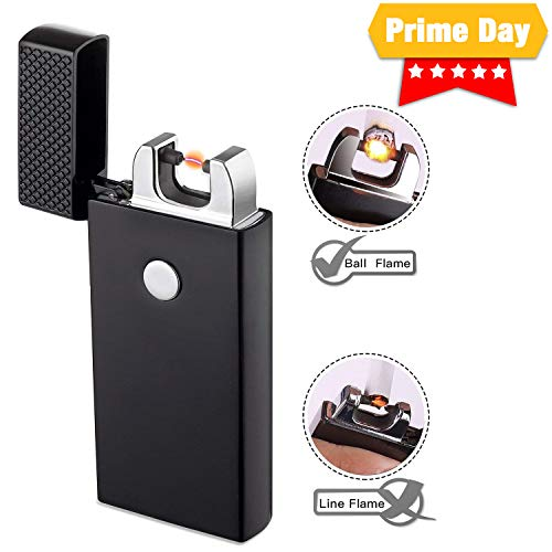 Lighter TECCPO Arc Lighter Windproof Electronic Lighter with USB Cable - TDEL01P