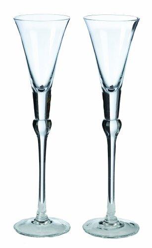 Lillian Rose Toasting Glasses (Lillian Rose Simple Glass Wedding Toasting Flutes Table Decor)