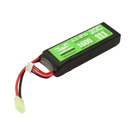 Valken Energy Li-Po 11.1v 1600mAh 20C Mini Flat Battery