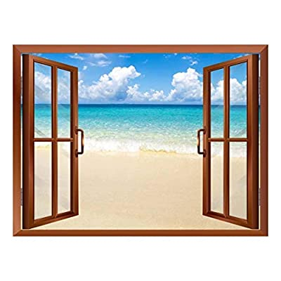 Beach and Tropical Sea Removable Wall Sticker Wall Mural, Created Just For You, Unbelievable Expertise