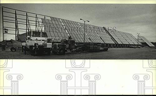Vintage Photos 1982 Press Photo Solar Energy Collector System in New Berlin Industrial Park