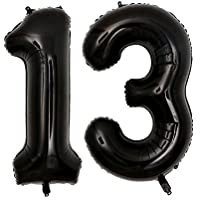 40inch Jumbo Black 13 Number Balloons for Birthday Anniversary Events Festival Party Decorations use Them as Props for Photos (Black 13)