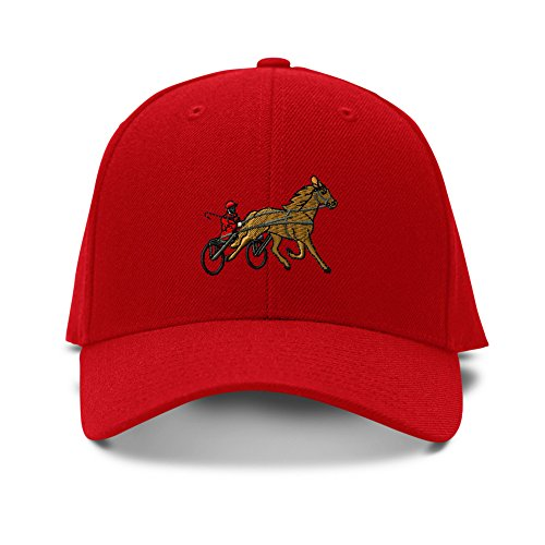 Sulky Racer Horse Race Embroidery Embroidered Adjustable Hat Baseball Cap (Sulky Race)