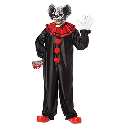 California Costumes Last Laugh The Clown Set, Black/Red, One Size -