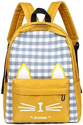 Women's Backpack Plaid Patchwork Zipper Backpack Zipper Bags Opening