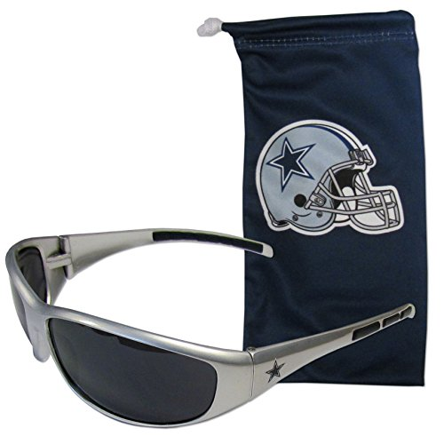 NFL Dallas Cowboys Adult Sunglass and Bag Set, Blue by Siskiyou