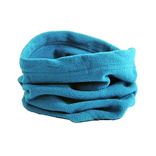 Sheer Ribbed Cap (Kimloog 3 In 1 Men Women Unisex Polar Fleece Warm Hat Soft Neck Scarf Sheer Face Mask Cap (Sky Blue))