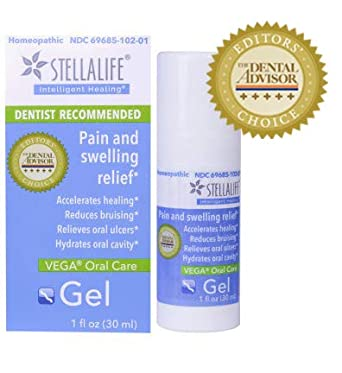StellaLife VEGA Oral Gel: Dry Socket, Dry Mouth, Teeth Extraction, Gum  Surgery, Canker Sore, Braces, Denture, Ulcer, Mucositis, Dental Implant,
