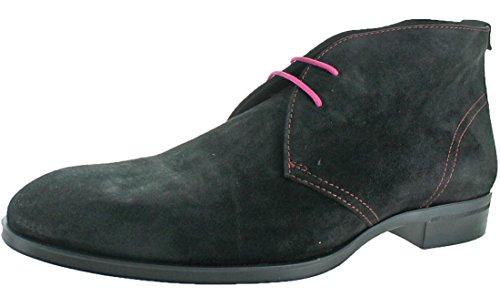 Donald J Pliner Men's Siro-02 Ankle Bootie, Black Suede, 8 M - In Men Black J