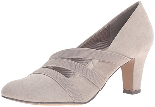 Easy Street Womens Camillo Closed Toe Classic Pumps Stone Suede A80QeYOG6