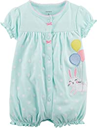 Baby Girls Multi Striped Snap up Cotton Romper