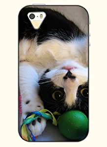 OOFIT Phone Case Design with Cute Little Kitten for Apple iPhone 5 5s 5g
