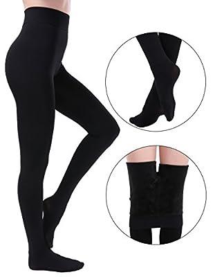 NORMOV Winter Leggings For Women Tights Warm Velvet Lined Pants High Waisted Elastic