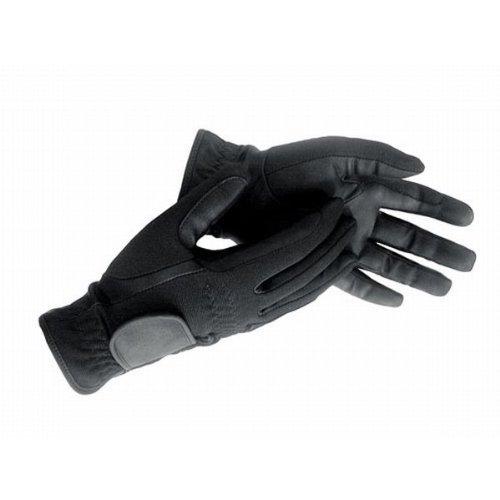 HKM Winter-Reithandschuh aus Lederimitat, Grösse 10 (15,5 cm) Kinder 10 Jahre, schwarz