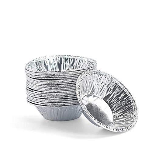 Disposable 2.7 inch Aluminum Foil Tart/Pie Pans (250 Pack) Foil Egg Tart Tins Mold Pie Pans Cake Baking Tools