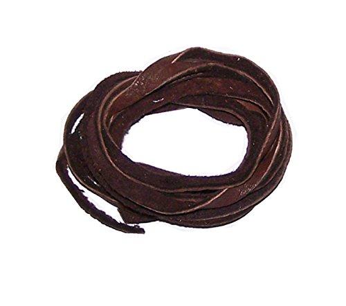 5' Natural American Deer Skin Lacing / Buckskin Lacing String (Dark Brown)