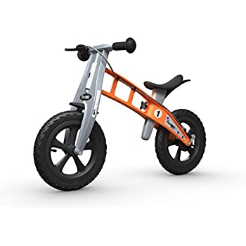 Image of Balance Bikes FirstBIKE Cross Balance Bike with Brake, Orange - for Kids & Toddlers Ages 2,3,4,5