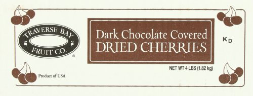 Chocolate Dark Tart (Traverse Bay Fruit Dark Chocolate Covered with Dried Cherries, 4 Pound)