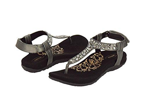 Aetrex Womens Sierra Sandale Noir