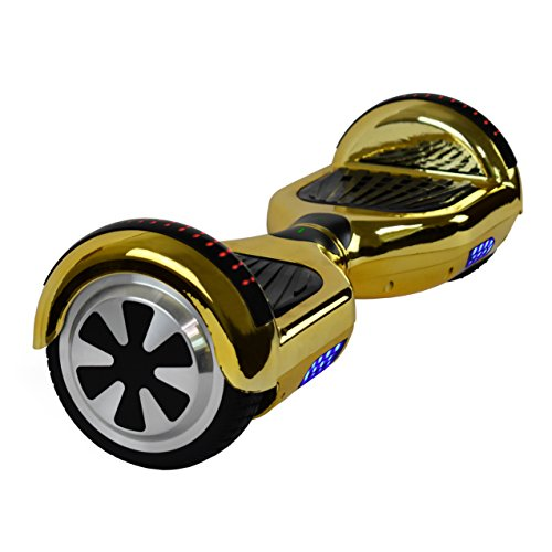 "6.5"" inch Wheels Electric Smart Self Balancing Scooter Hoverboard With Bluetooth Speaker LED Light - UL2272 Certified (Gold)"