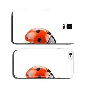 ladybird on green leaf cell phone cover case Samsung S6