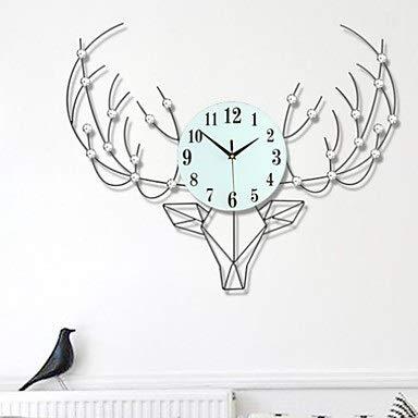 HYH ヨーロッパのステンレス鋼の不規則な角の屋内居間の寝室の屋外の壁時計/クロック 美しい人生   B07RBWSVYH