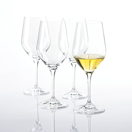 Wine Enthusiast Fusion Classic Chardonnay Wine Glasses, Set of (Classic Crystal Wine Stemware)
