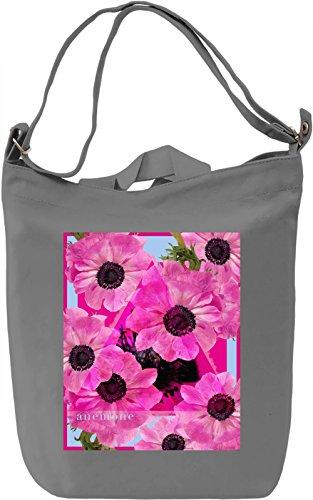 Anemone Borsa Giornaliera Canvas Canvas Day Bag| 100% Premium Cotton Canvas| DTG Printing|